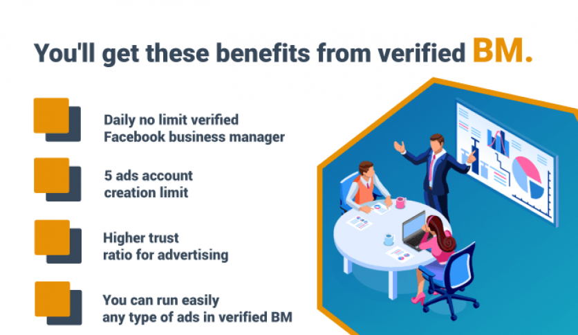 Verified facebook business manager