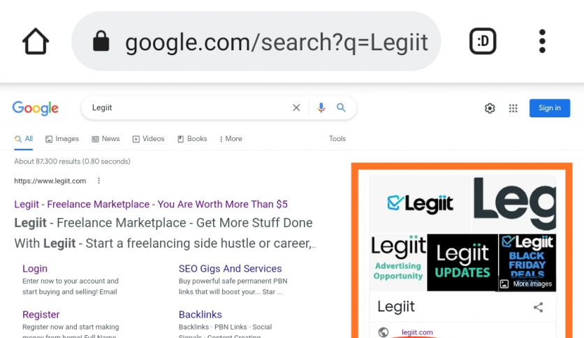 Google Knowledge Panel for Company
