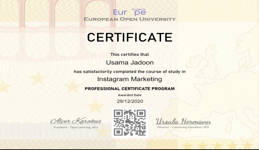 Instagram Marketing Certificate